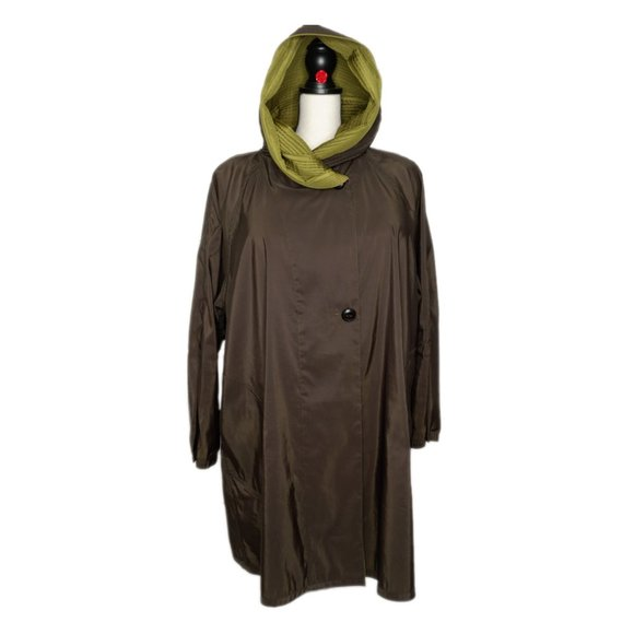 Mycra Pac Reversible Short Raincoat Grass Black 1X